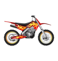 Fire motorcycle vector