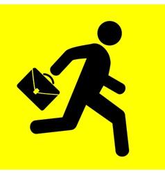 sign running man vector image