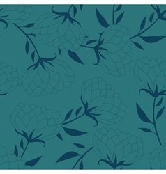 Old-fashioned flowers silhouette seamless vector