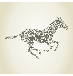 horse animals vector image