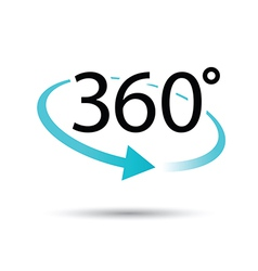 360 degrees vector image vector image