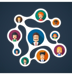 flat design business team work vector image