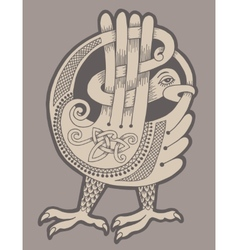 Authentic decorative celtic bird vector