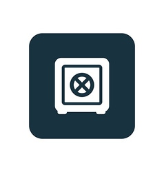 Bank safe icon rounded squares button vector