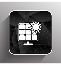 Solar energy panel icon sun power vector