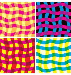 funky seamless patterns vector image