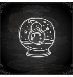 Hand drawn snow globe vector