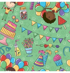 Birthday party seamless pattern vector