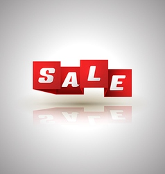 Sale ribbon banner origami vector