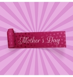Mothers Day greeting curved Ribbon with Text vector image