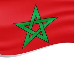 Waving flag of morocco isolated on white vector
