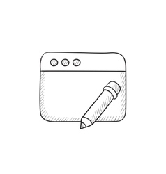 Digital art sketch icon vector