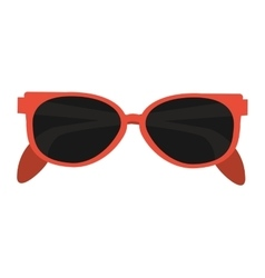 Orange frame sunglasses icon vector