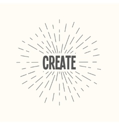 Hand drawn sunburst - create vector