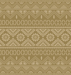 Brown native american ethnic pattern vector