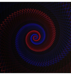 Abstract flame spiral on black background vector