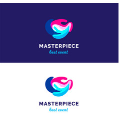 abstract waves logo bridght splashes logo vector image
