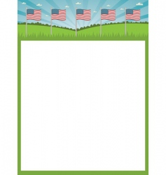 American flag poster vector