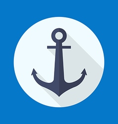 Anchor flat icon vector image vector image
