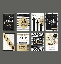 Big set of social media sale website and mobile vector