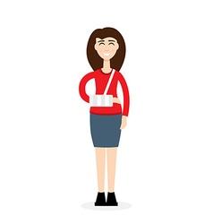 broken arm girl vector image
