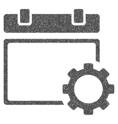 Calendar options grainy texture icon vector