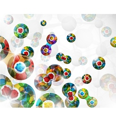 Cell division background vector image vector image