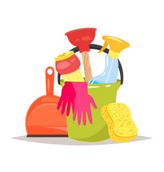 cleaning service tools vector image vector image