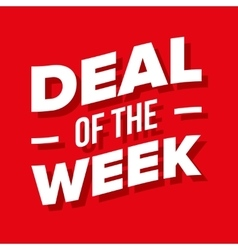 Deal of the week lettering vector
