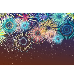 Festive firework abstract background vector