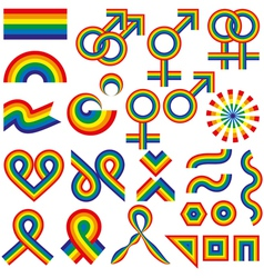 Gay symbolic vector image vector image