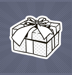 gift box pop art retro style of present with vector image