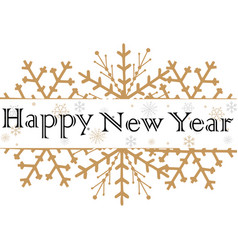 happy new year text for greeting card golden vector image vector image
