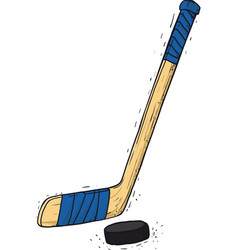 hockey stick and washer vector image