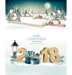 holiday christmas background with a winter vector image