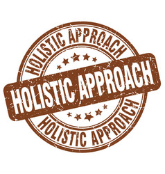 Holistic approach brown grunge stamp vector