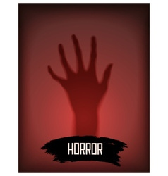 Horror background with hand vector