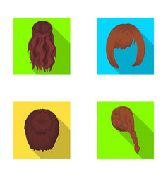 Kara red braid and other types of hairstyles vector