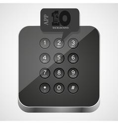 Keypad app icon vector