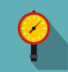 Manometer or pressure gauge icon flat style vector
