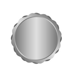 modern metal silver circle metal badges labels vector image vector image