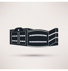 Parking building graphic icon flat style vector