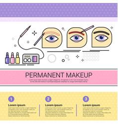 Permanent makeup cosmetology infographics salon vector