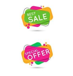 Sale banner set vector