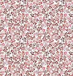 Small red berries seamless background vector image vector image