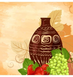 still life wine set vector image vector image