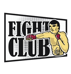 The Fighters vector image