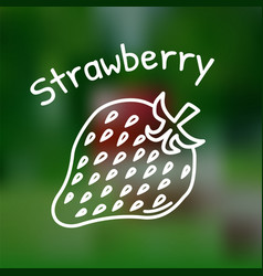 thin line strawberry icon vector image