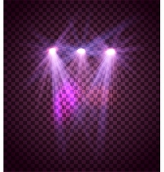 Transparent lighty effects on a dark background vector