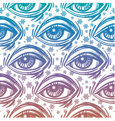 Trendy fashion all seeing eye seamless pattern vector